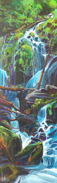 Plush Greens in Backcountry Dreams 36 x 12 $1500