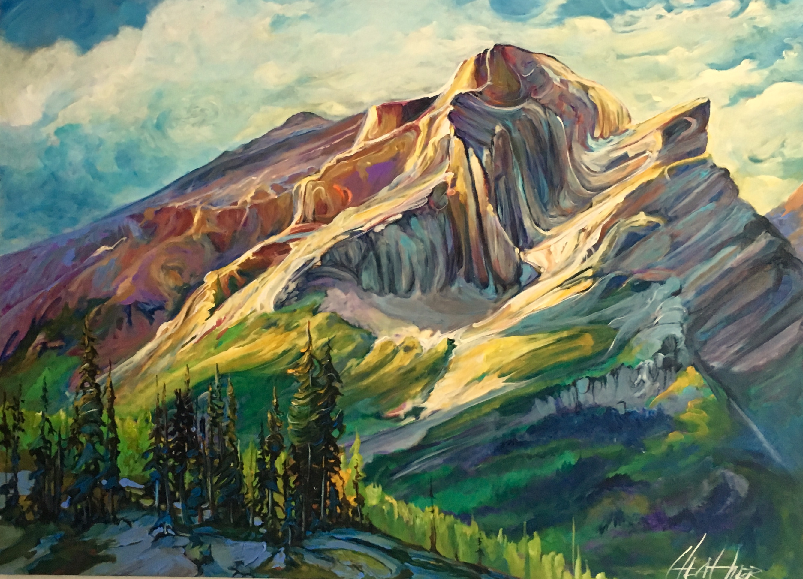 Enchanting Mt.Kidd 36 x 48 SOLD