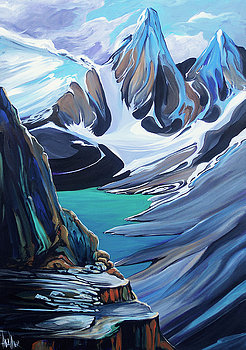 Moraine Lake Vagarious 24 x 36 SOLD