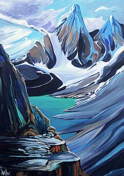Moraine Lake Vagarious 24 x 36 SOLD
