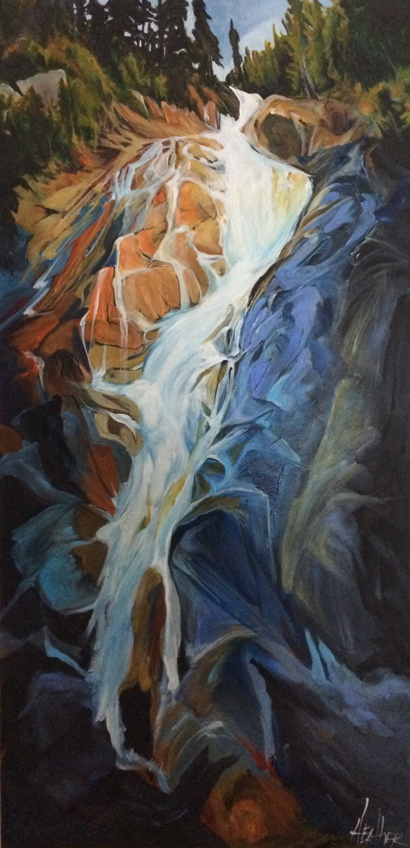 Rock n Flow 24 x 48 SOLD