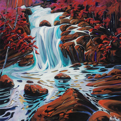 Sooke Falls In Fall Revisited..SOLD