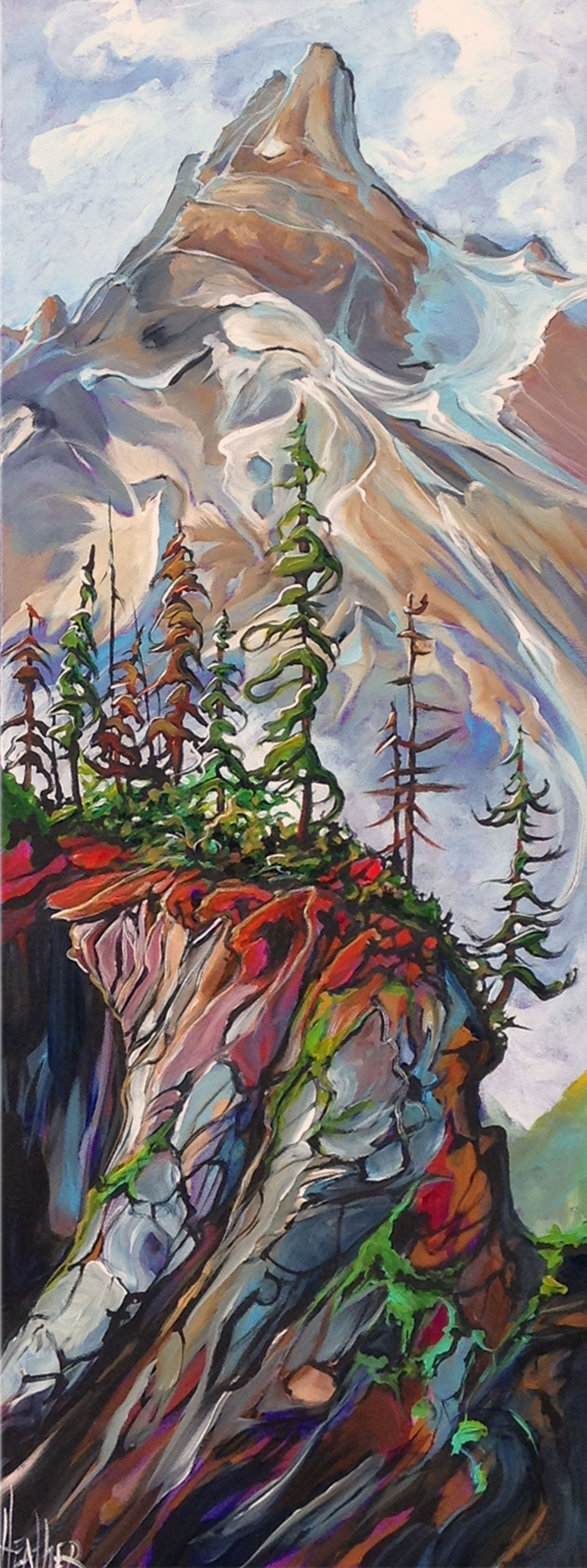 Kananaskis Cliffhangers 16x40 SOLD