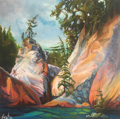 Sublime Intervention 36 x 36 SOLD