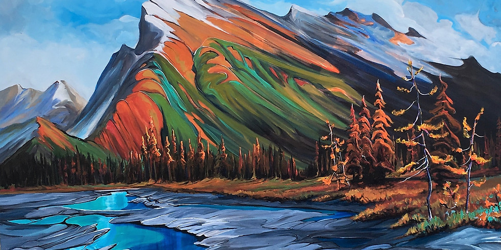 Mount Rundle Workshop an Adventure in Acrylics