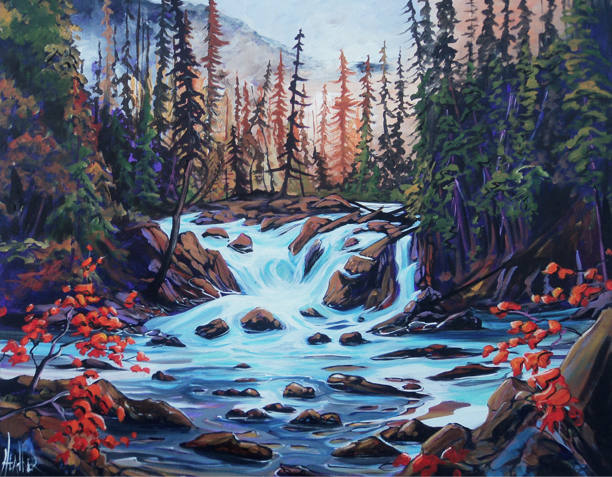 Kananaskis Wild Water 30 x 40 SOLD