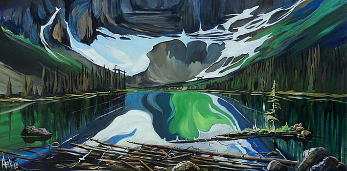 Sundown at Rawson Lake 24 x 48 SOLD