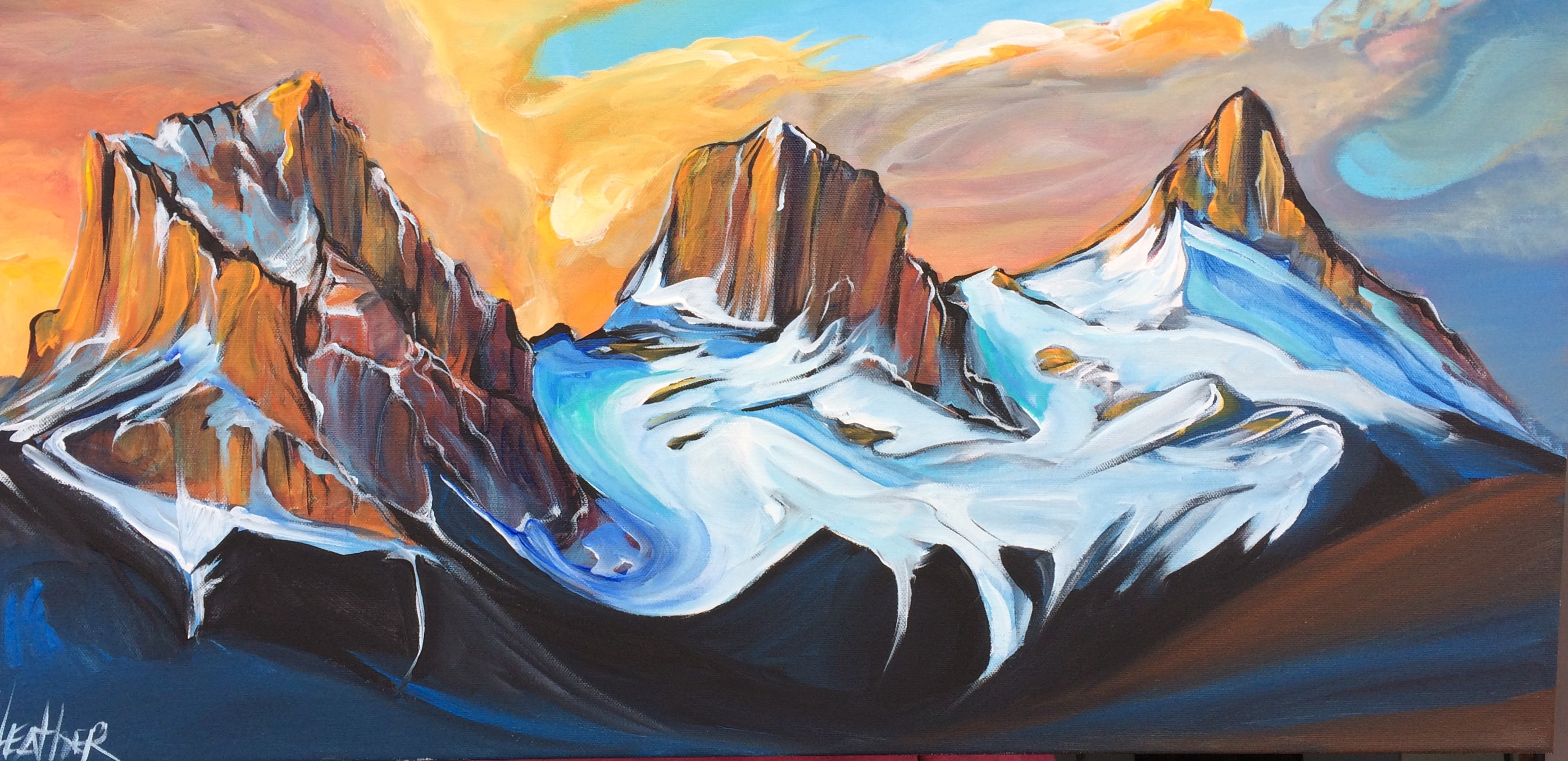 Three Sisters Fire and Ice 15 x 30