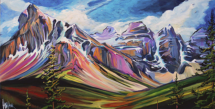 Arise Valley of the 10 Peaks 24x48