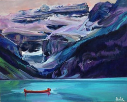 Lake Louise Mystery 16 x 20 SOLD