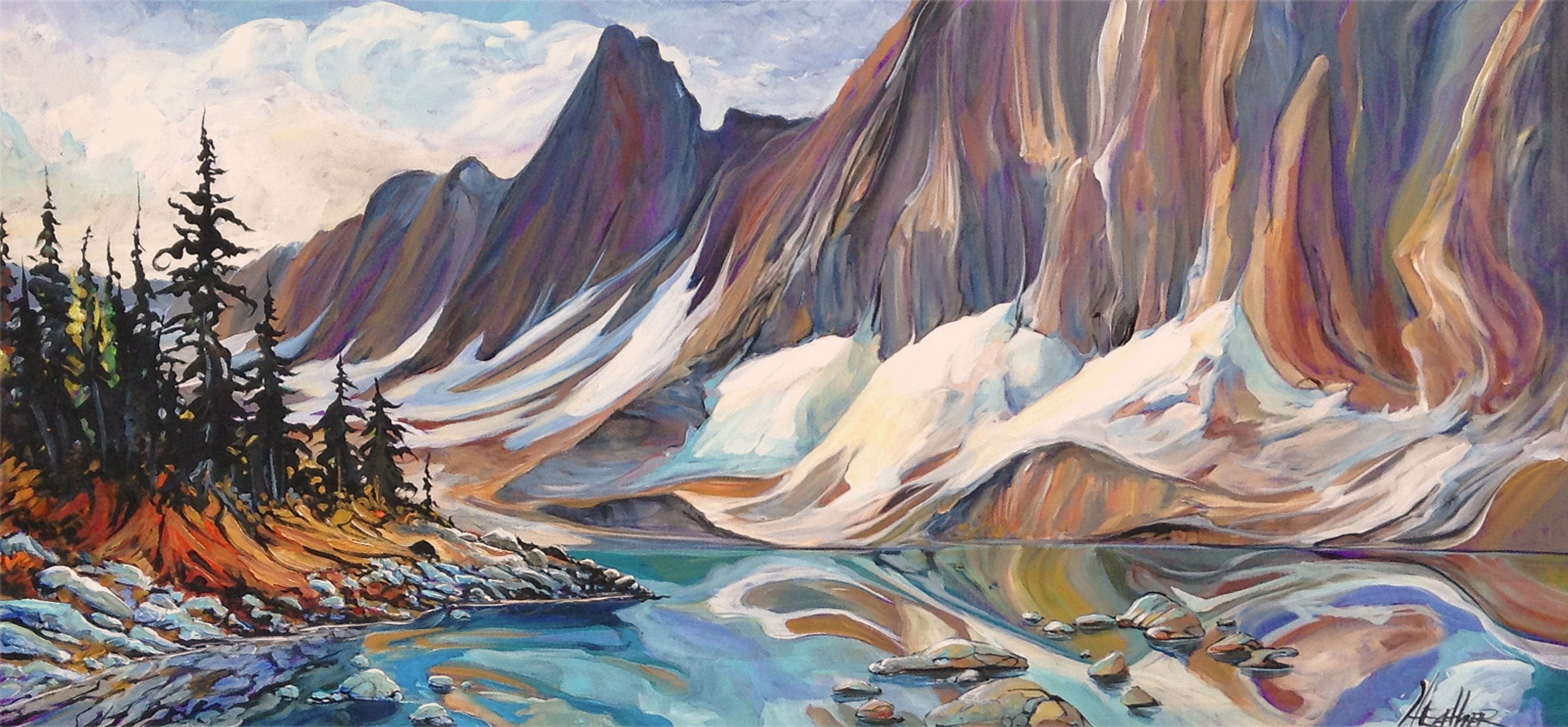 RockWall Trail Floe Lake 24 x 48