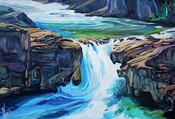 Elbow Falls Evolved 24 x 36 SOLD
