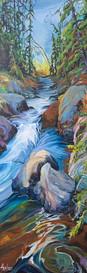 Stream of Living Colour 72 x 24 $4800