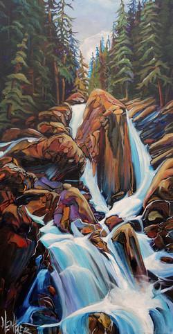 Sicamous Creek Falls 15 x 30 SOLD