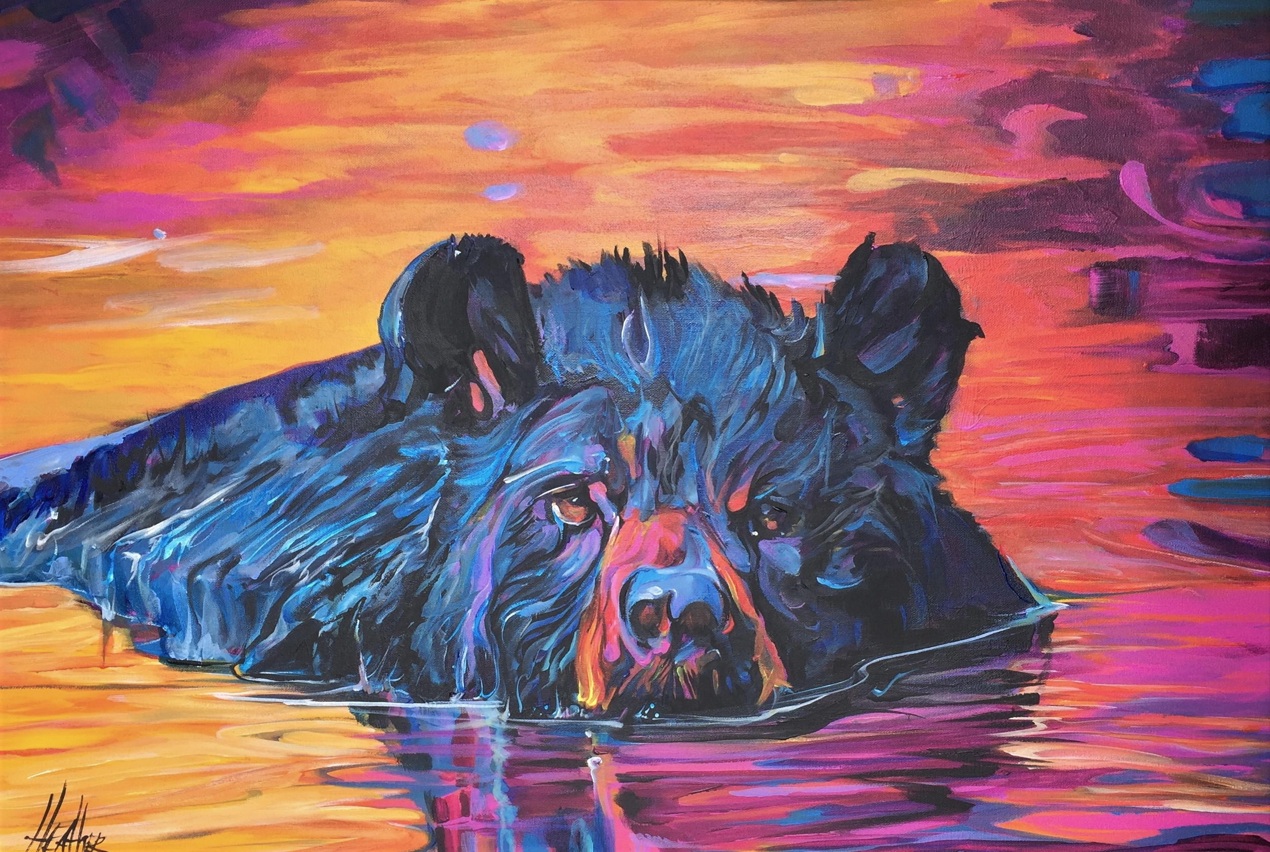 Blue Beary 24 x 36 SOLD