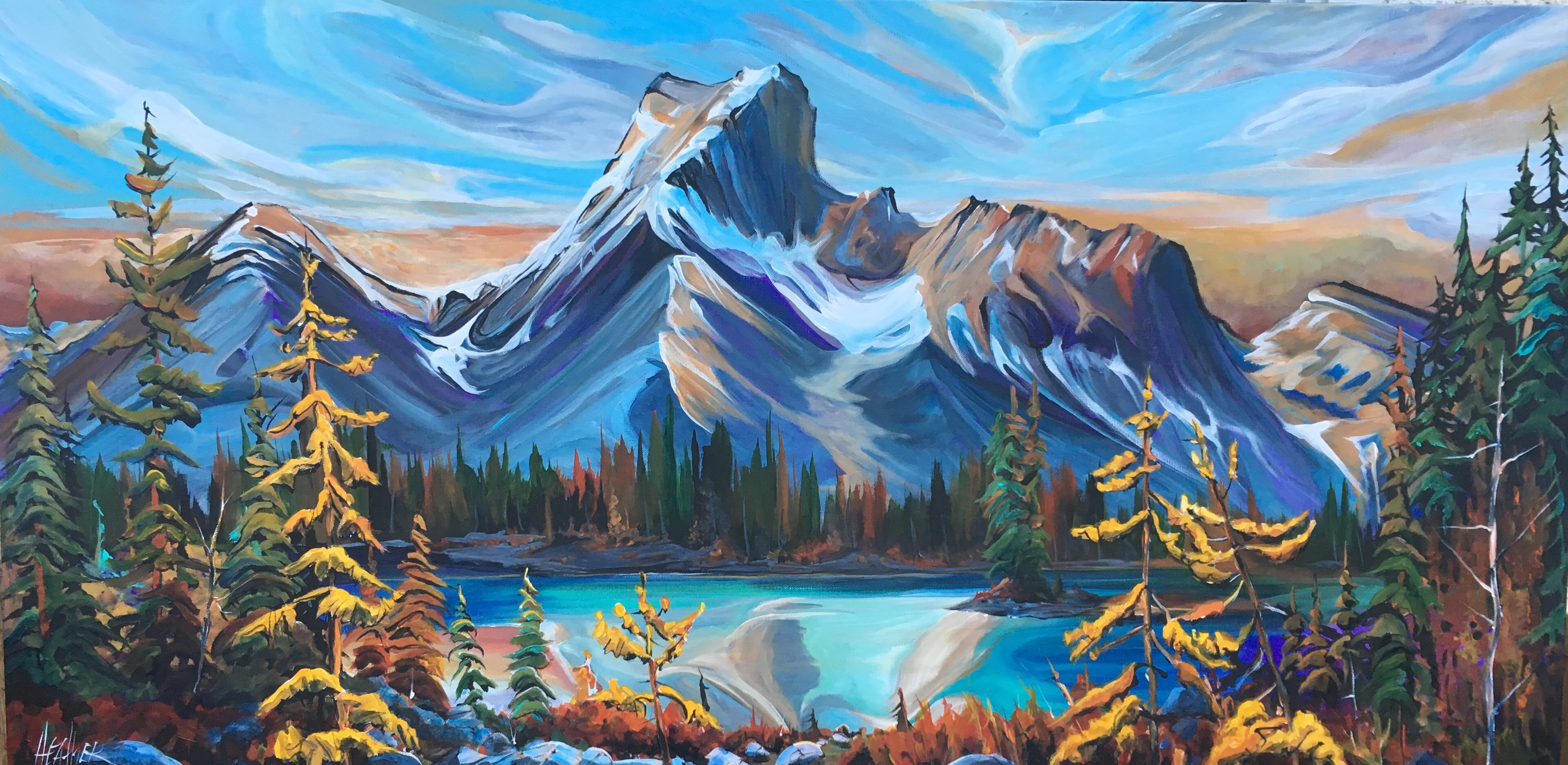 Kananaskis Valley Vista 24 x 48 SOLD