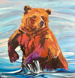 Grizzly Chill 36 x 36 SOLD