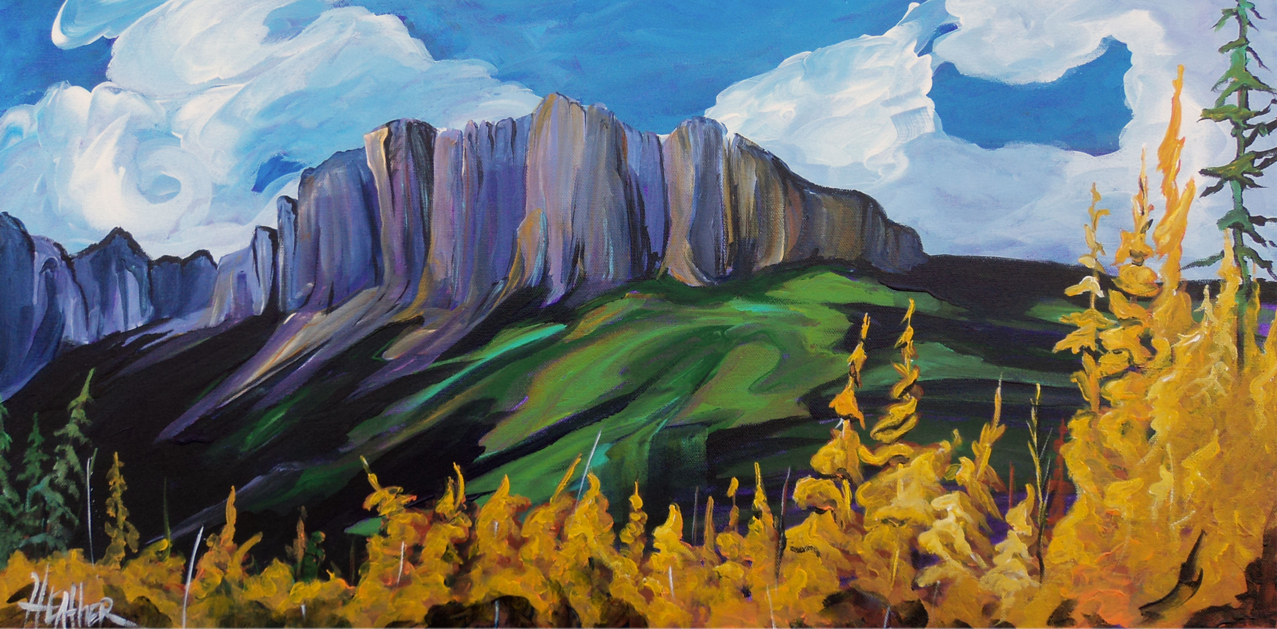 Yamnuska the Great..15 x 30..SOLD