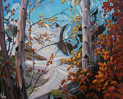 From Above Banff 36 x 48 SOLD