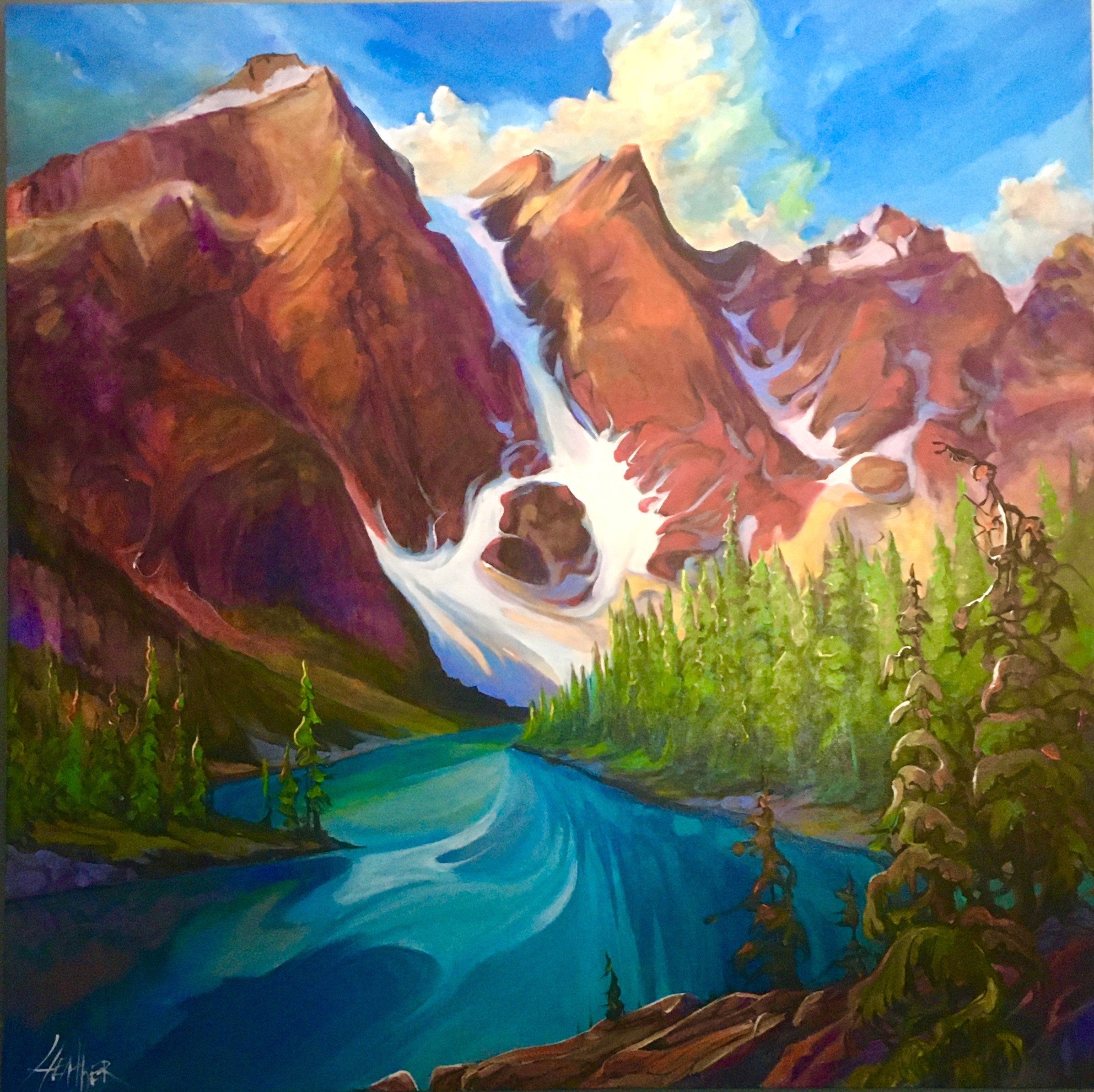 Magic of Moraine 36 x 36 $3600