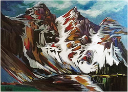 Mighty Peaks of Banff 30 x 40 SOLD