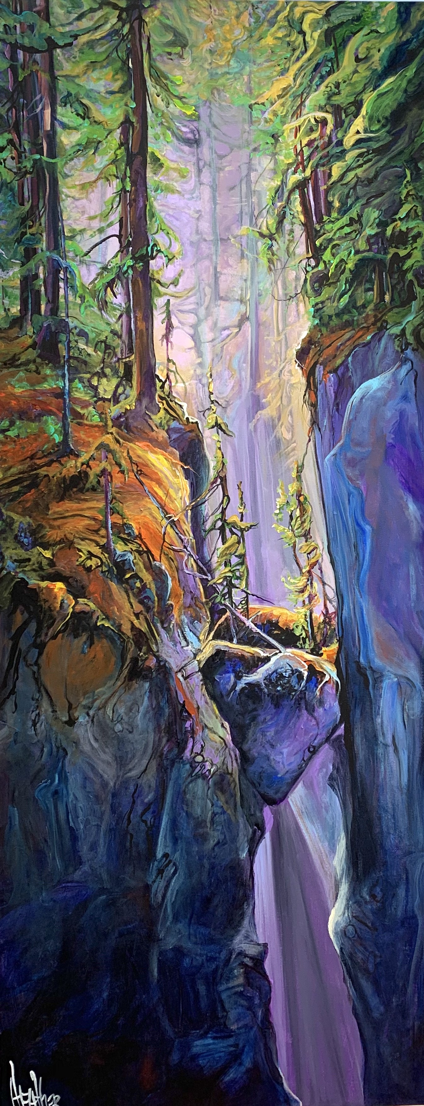 Heart Of the Canyon 24 x 60 SOLD
