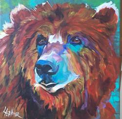 Bella the Bear 14 x 14 SOLD