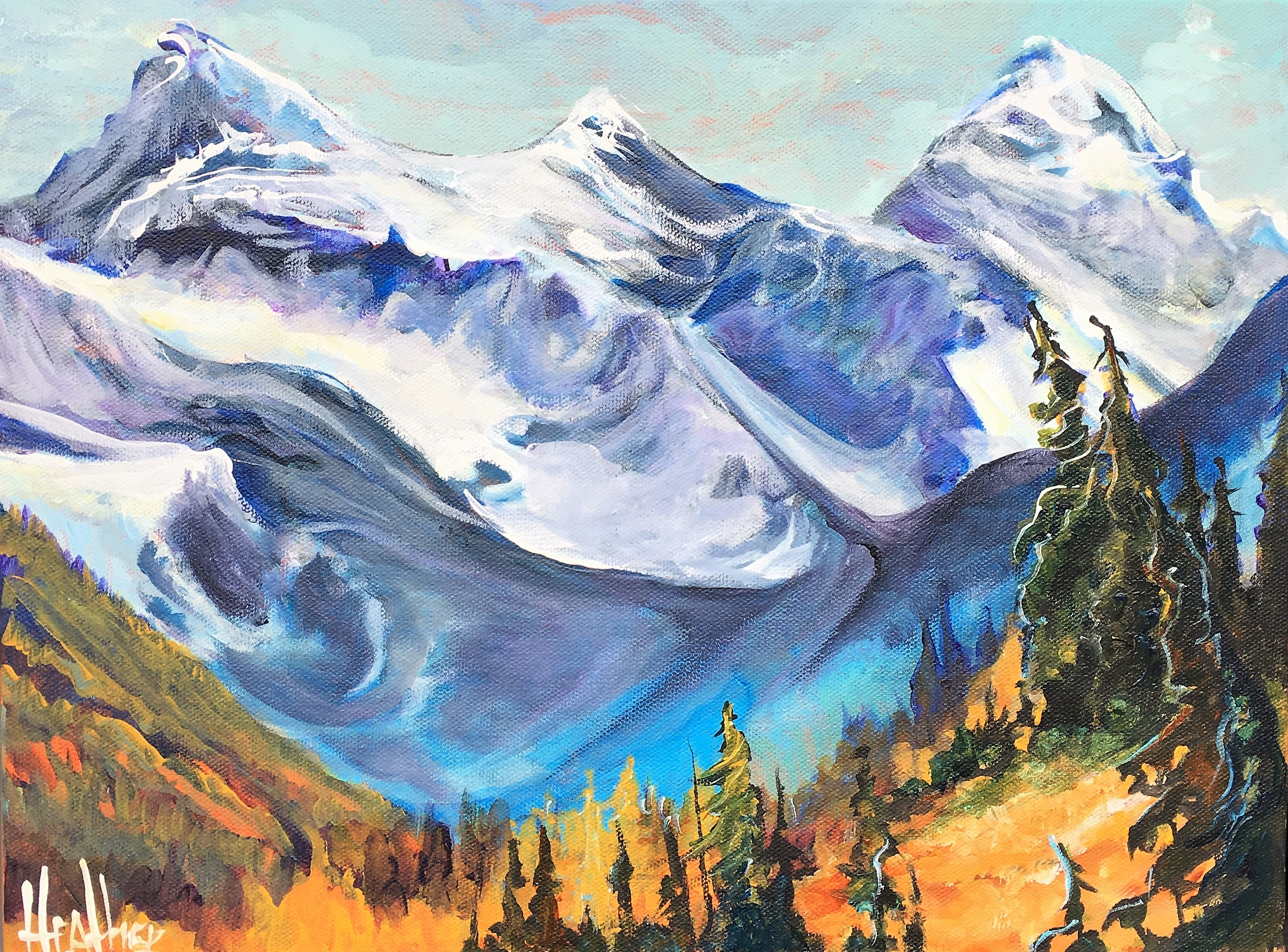 Kananaskis Mountain Melody 12 x 16