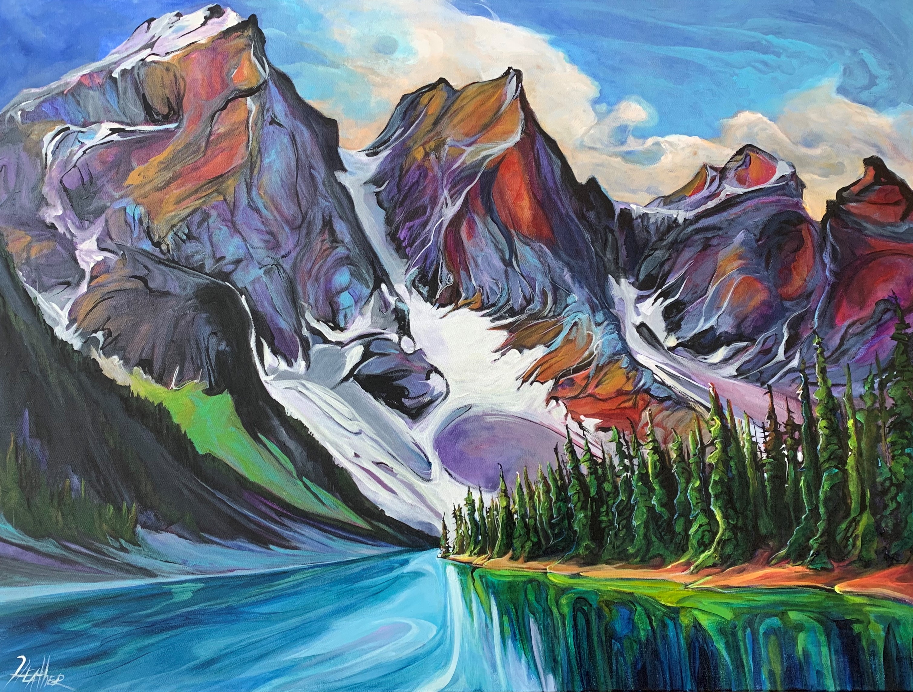 Moraine Lake Dreamstate 30 x 40 SOLD