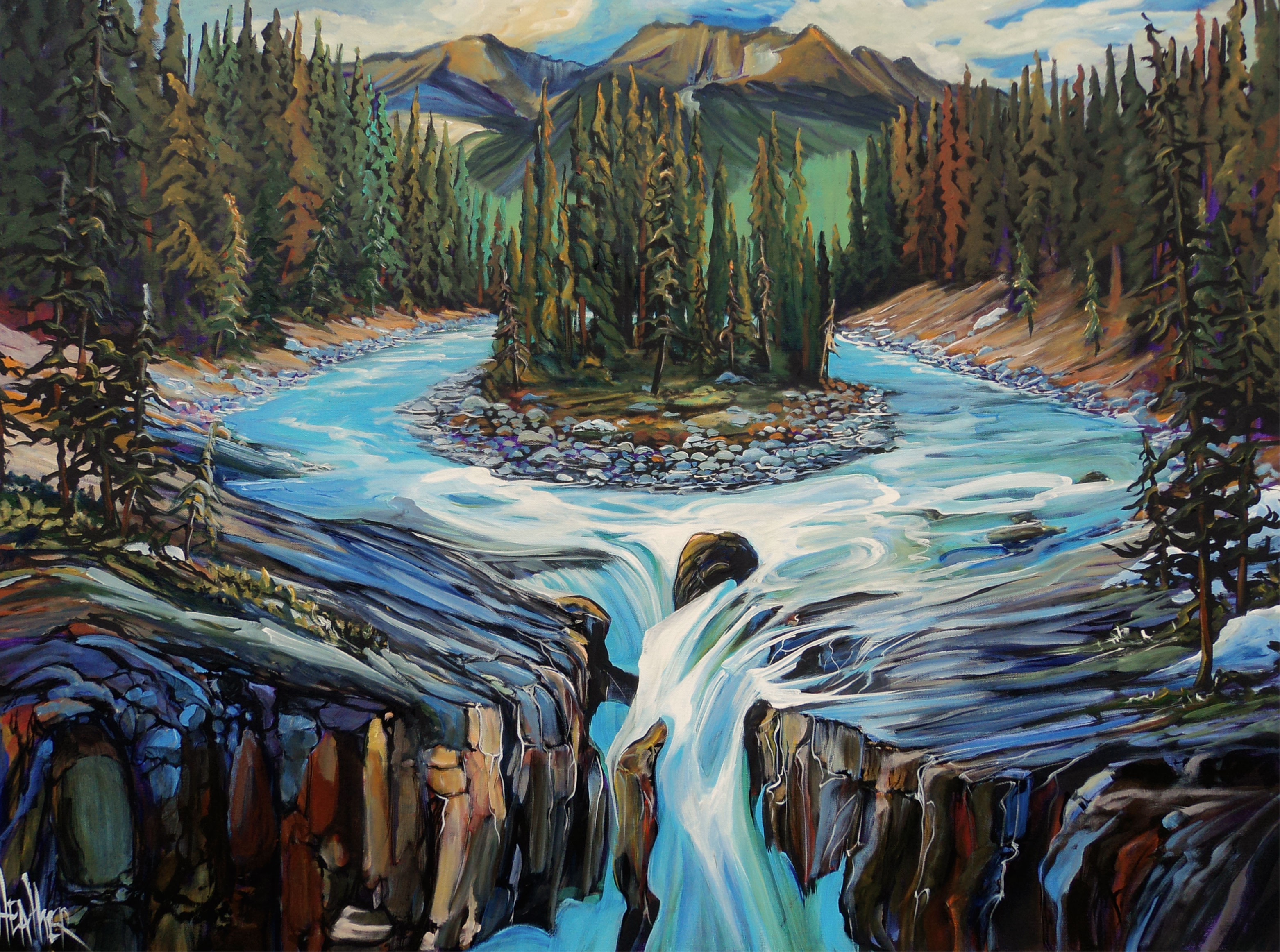 The Gift of Sunwapta 30 X 40 Donated