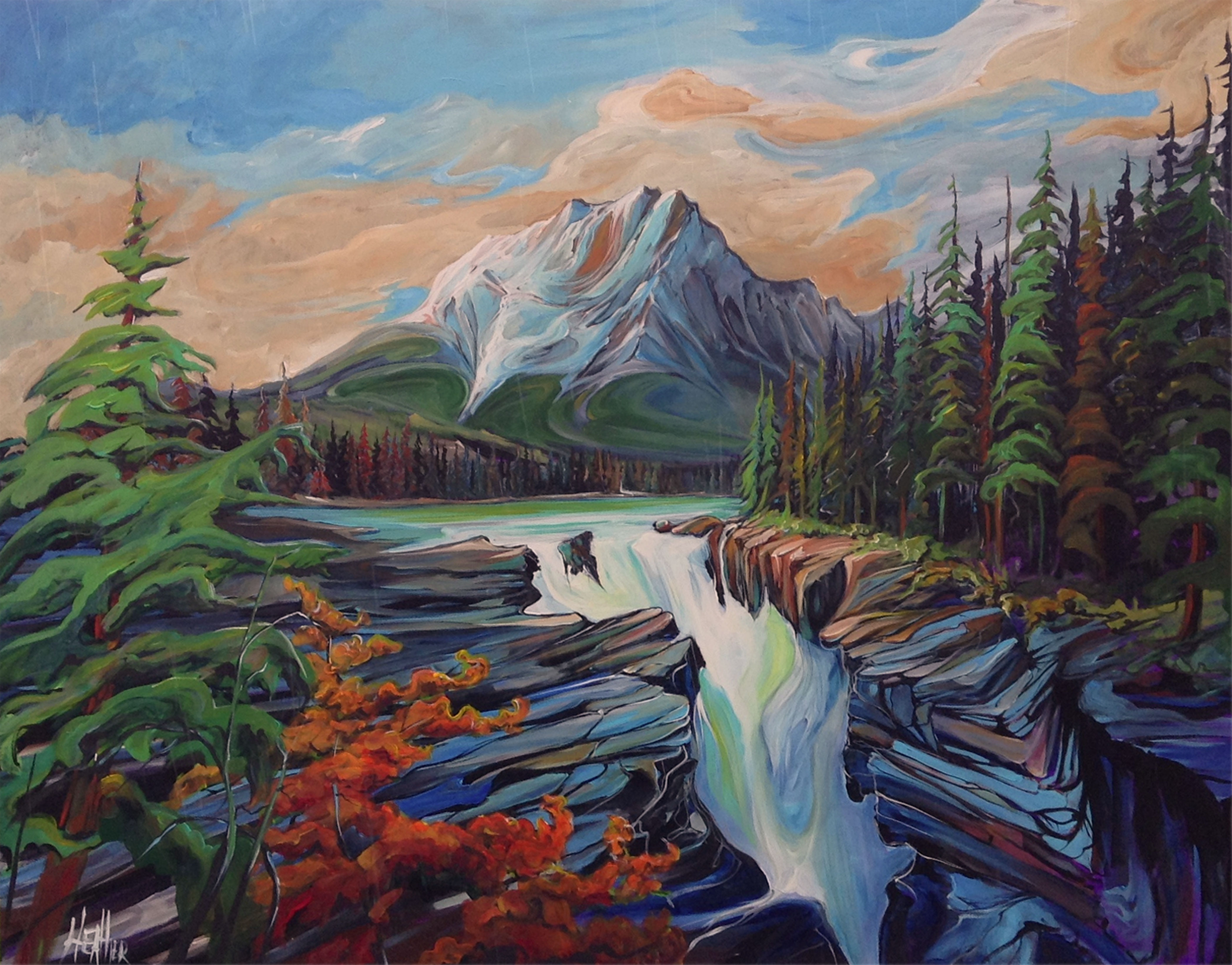 Athabasca Alive 60 x 48 SOLD