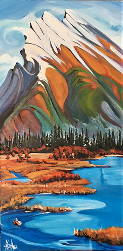 On The Rise Mt. Rundle 15x30 SOLD