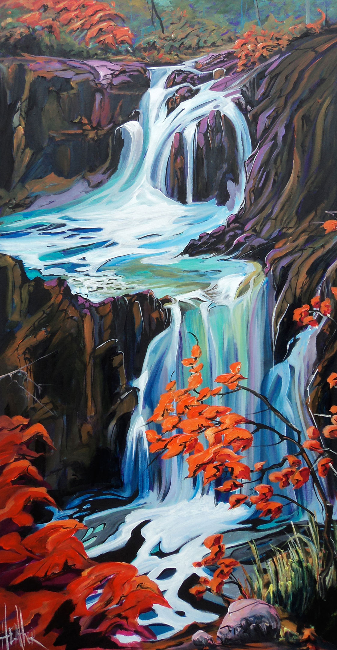 Little Qualicum Falls 24 x 48 SOLD