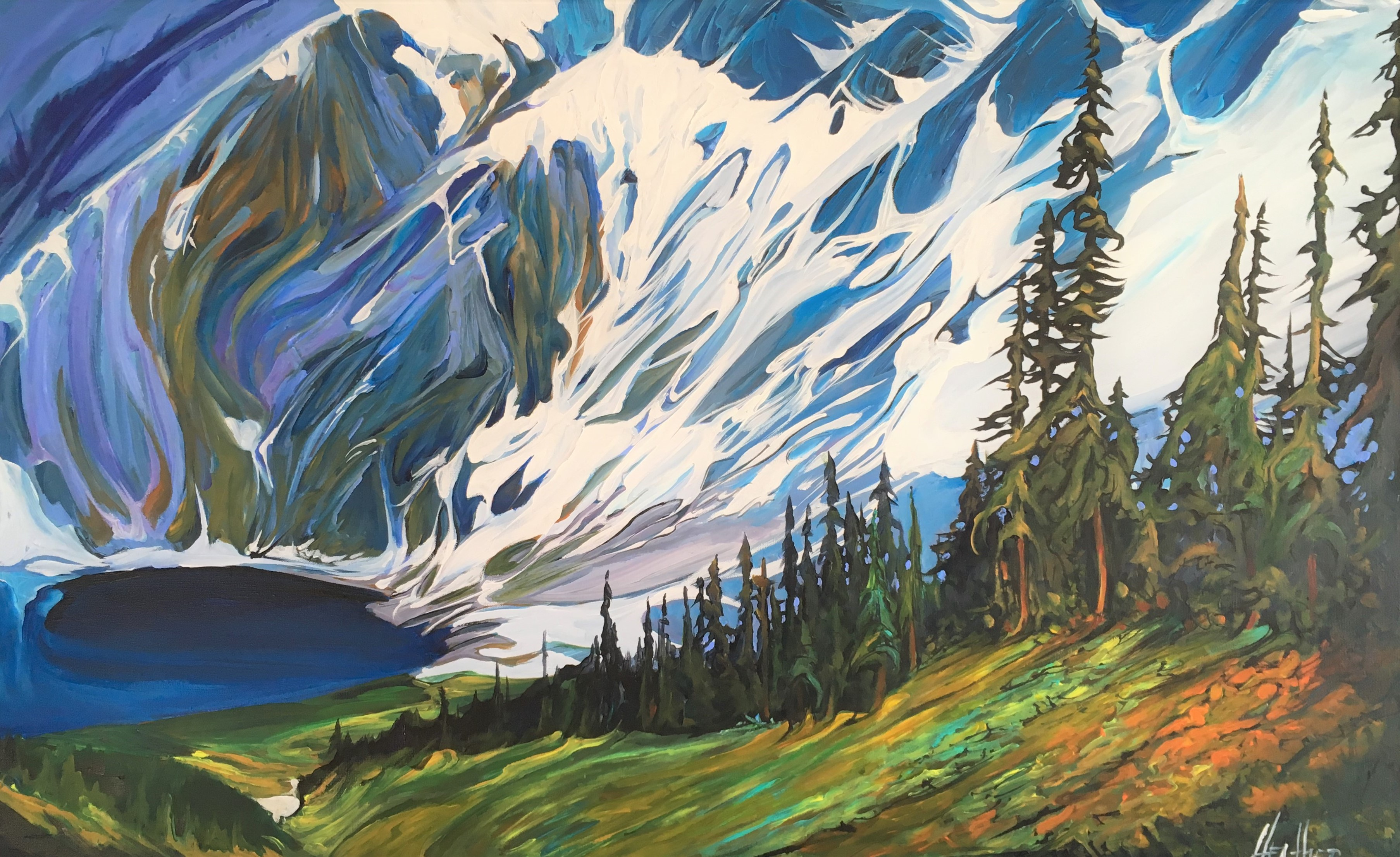 Rawson Lake Resplendence 30x48 SOLD