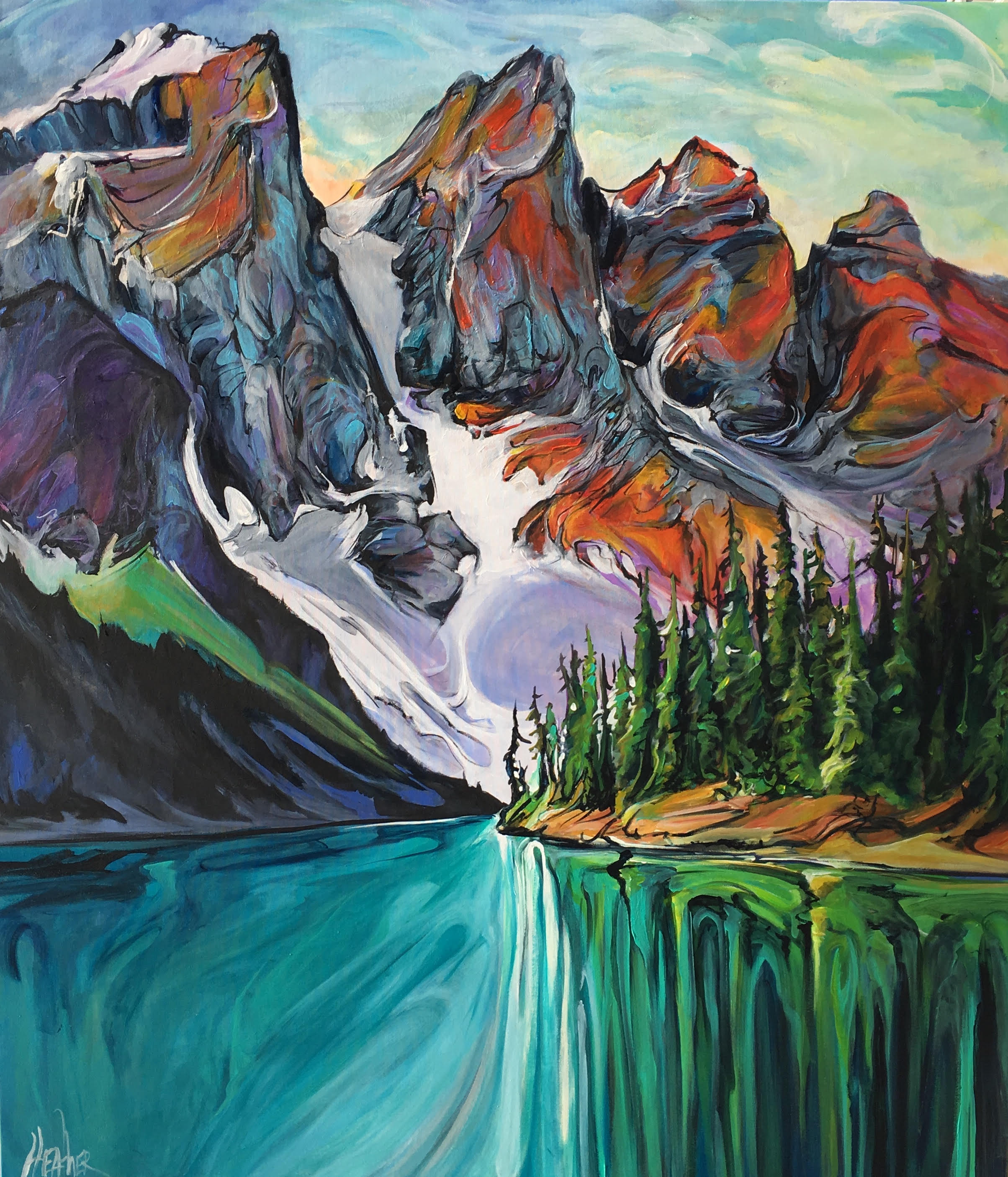 Essence of the Mountains 48x42 SOLD