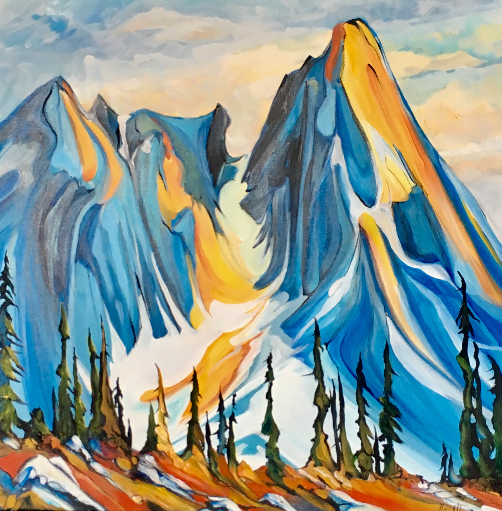 Purcell Peaks 20 x 20 SOLD