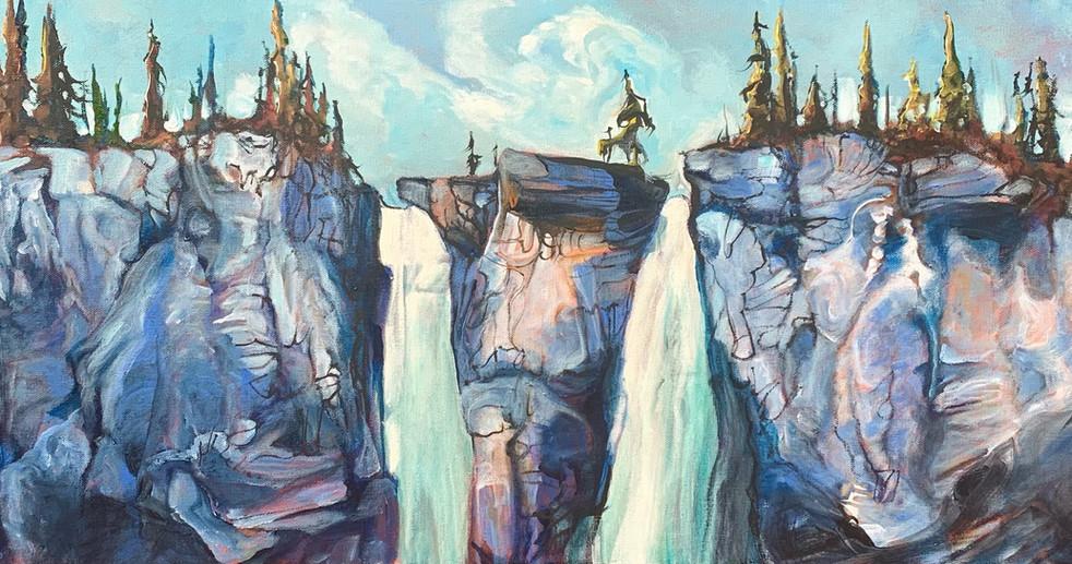 Top of Twin Falls Yoho National Park 16 x 40 $2100