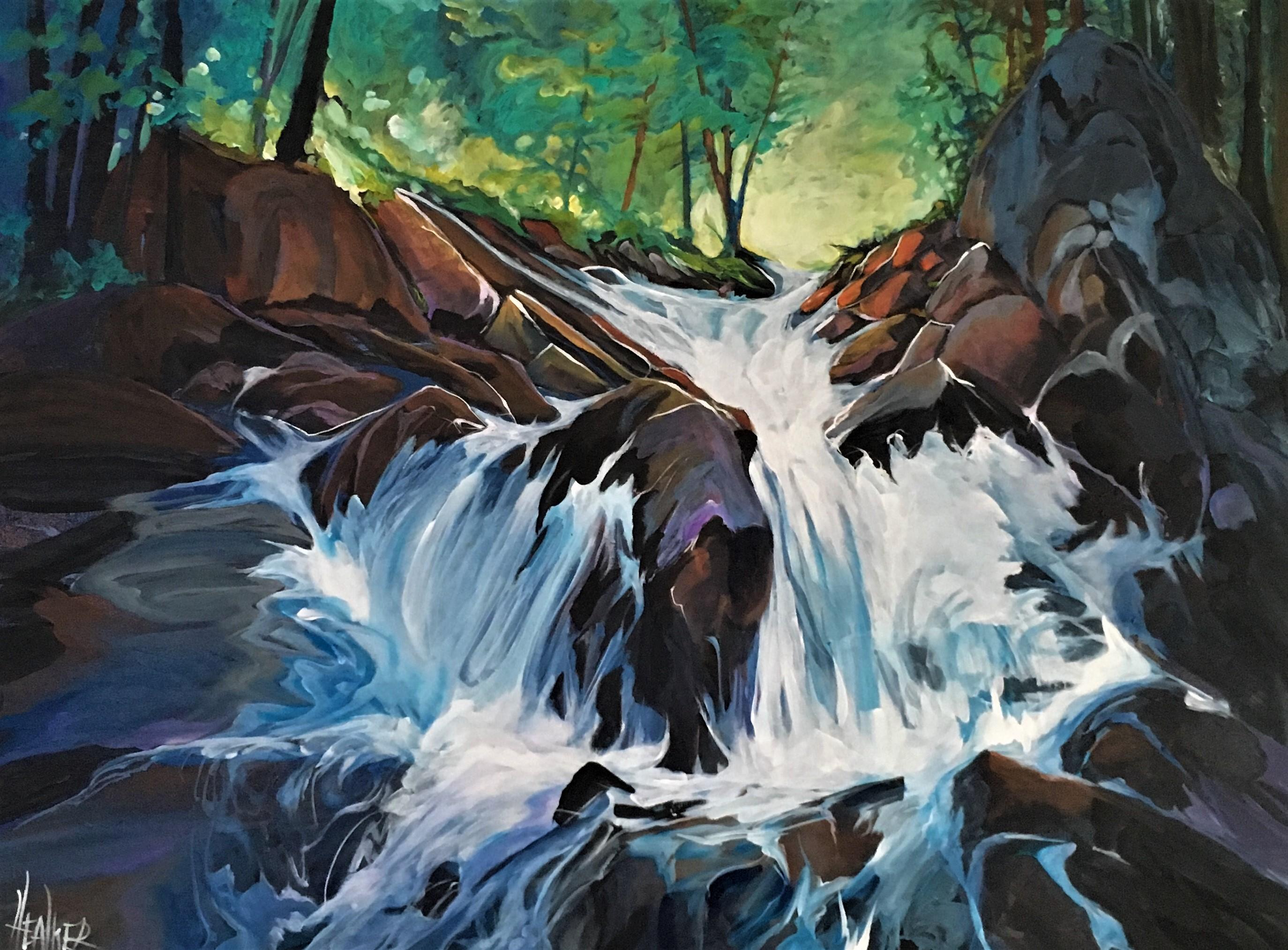 Sarrail Creek Falls 30 x 40 $2800
