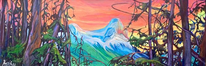 HaLing Through the Trees 12 x 36 $1500