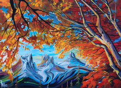 Afternoon In Canmore 36 x 48 SOLD