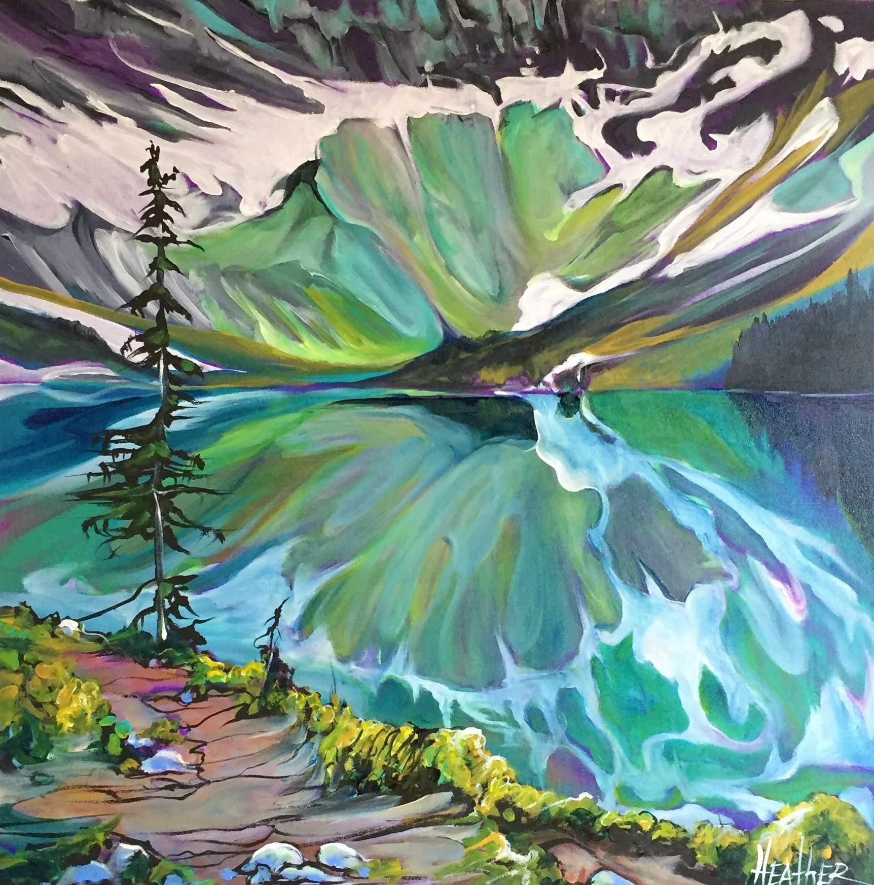 Rawson Lake Illuminate 24 x 24 SOLD