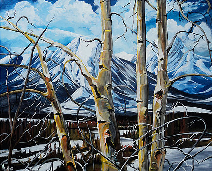 Bow Valley Birch 30 x 40 SOLD