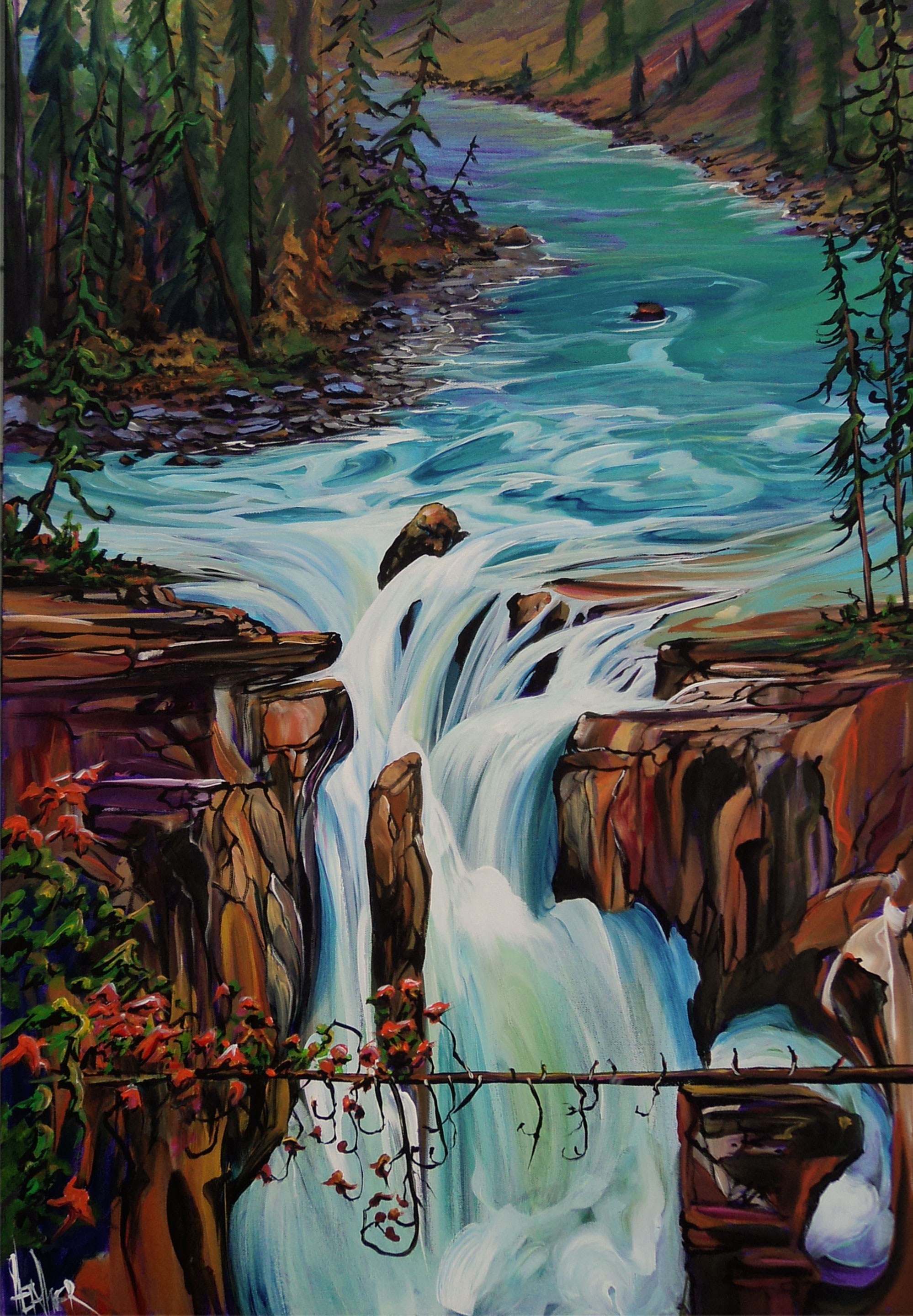 36 x 24 Spirit of Sunwapta Falls