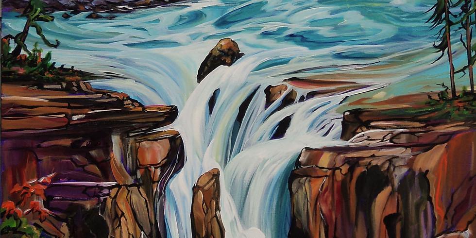 Heather Pant Acrylics Waterfall Workshop Edmonton