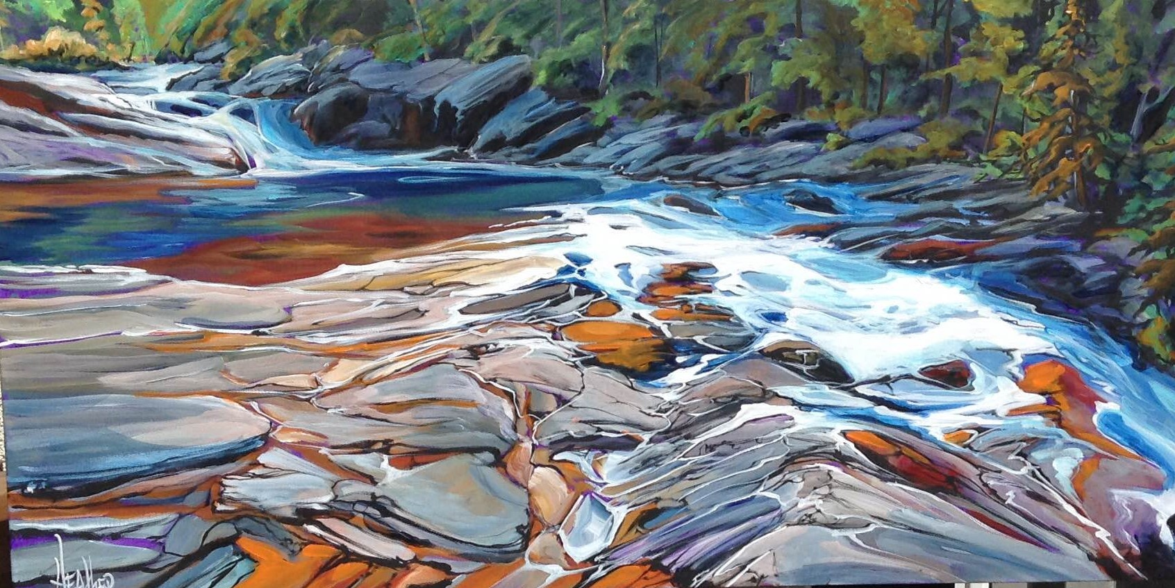 Yoho River Rush 24 x 48...SOLD
