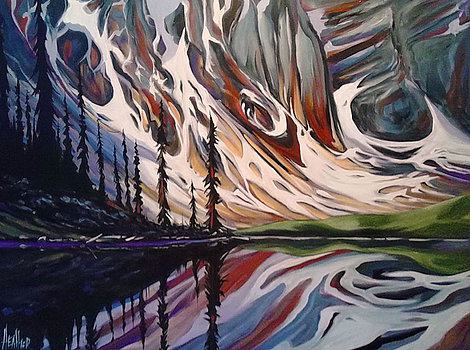 Moraine Lake Reflections 30x40 SOLD