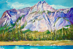 Summer Day at Mt. Kidd 24x36 SOLD