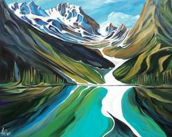 Prismatic Rawson Lake 48 x 60 SOLD