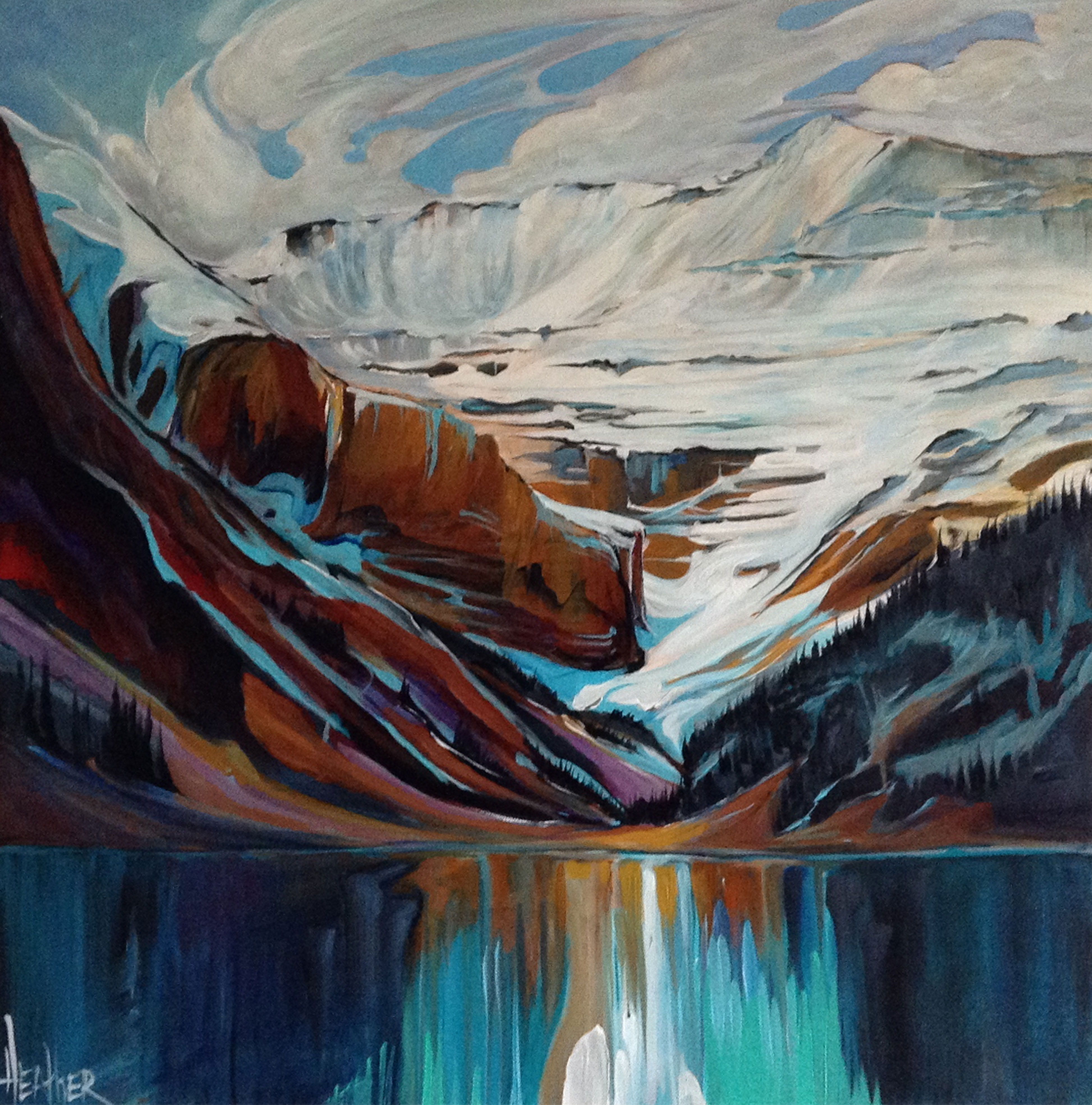 Captivating Lake Louise 24 x 24 SOLD