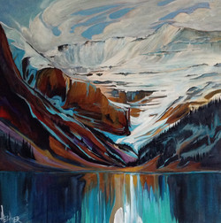 Captivating Lake Louise 24 x 24 SOLD
